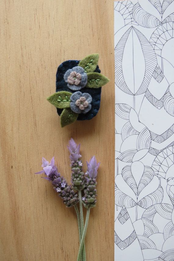 Brooches - Embroidered Wool Felt