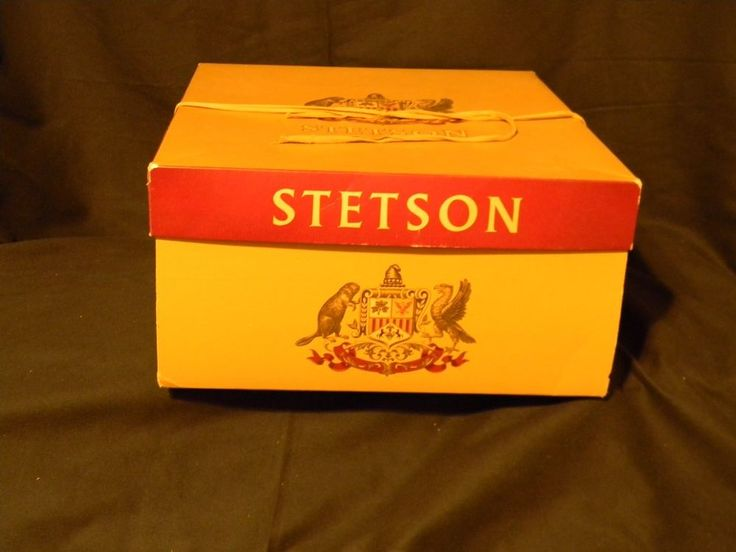 "Stetson Hat Box Only1950's Rectangle 6 3/4"" Tall 15"" Length 13 1/2"" Width  