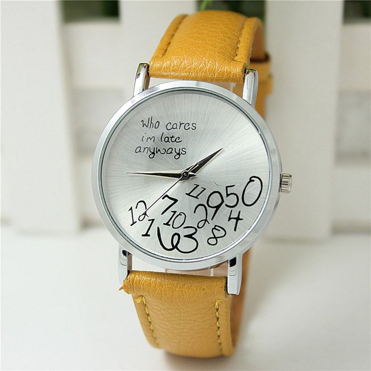 Ladies-Women-Stylish-New-Leather-Casual-Letter-Girl-Simple-Wrist-Watch-Hot