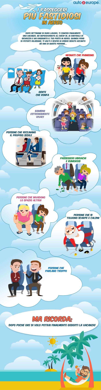 Infografica I passeggeri pi¹ fastidiosi in aereo Consulta qui le altre infografiche di Auto