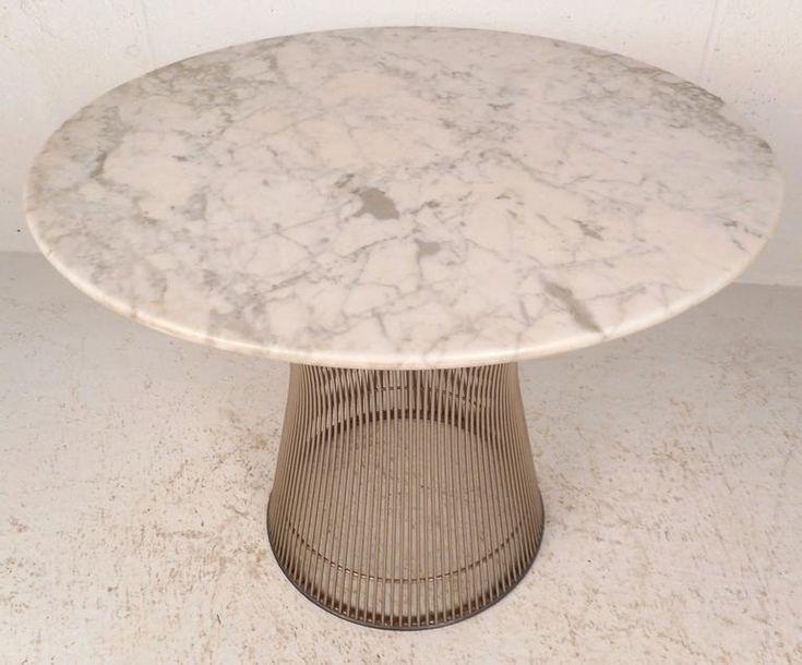 Mid-Century Modern Marble-Top End Table by Warren Platner 2