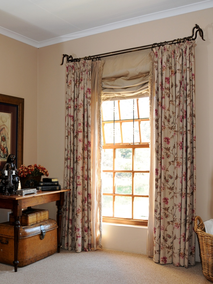 Roman Blind - unstructured Sheer curtains done with rouche on leading edges - by Inca Interiors