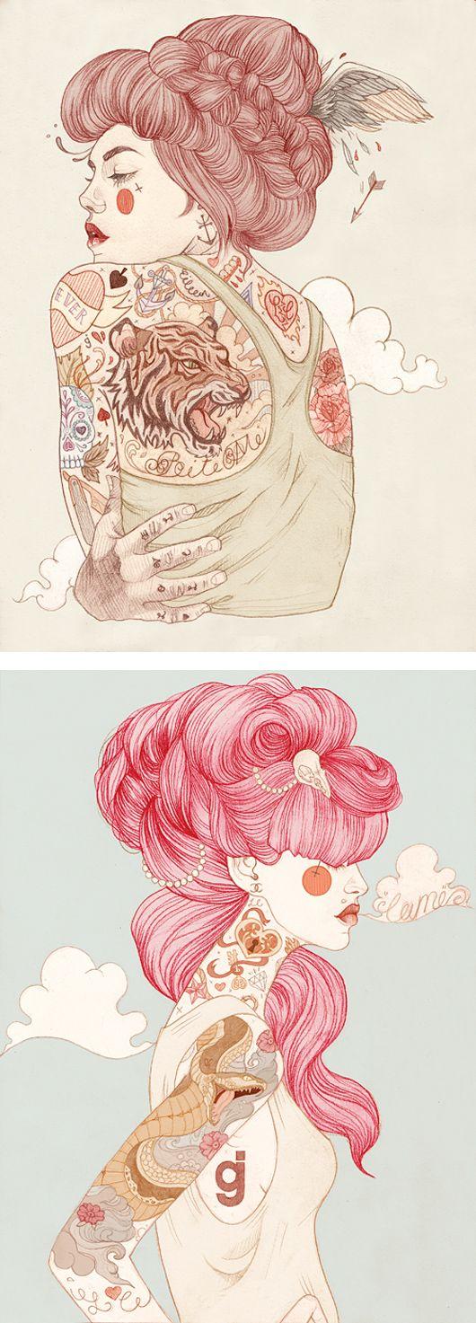 Ilustrações Tatuadas de Liz Clements | Criatives | Blog Design, Inspirações, Tutoriais, Web Design