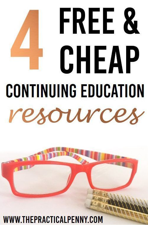 4 Continuing Education Resources: No College Degree Required | The Practical Penny | To keep up in the information age, you'll need to keep learning marketable skills. Here are 4 of the best continuing education resources (many are free!). #Learning #educ
