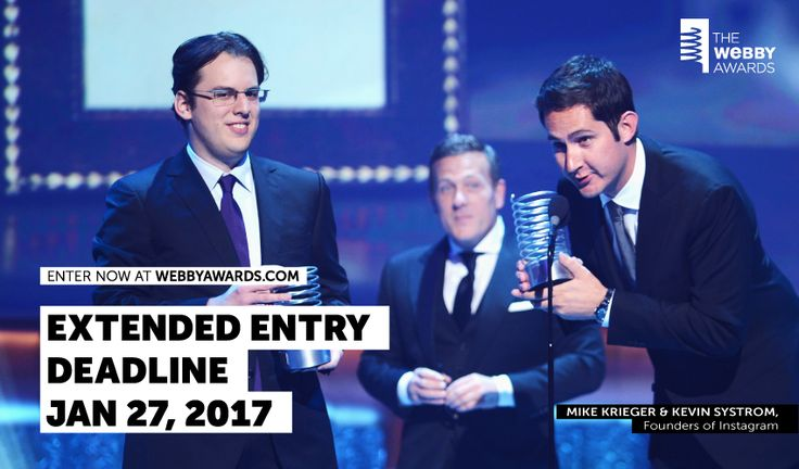 If you didn't get the chance to prepare your submission for the 21st Annual Webby Awards, you're in luck! The Webby Awards is still accepting entries, and will do so until January 27, 2017. Get your submissions