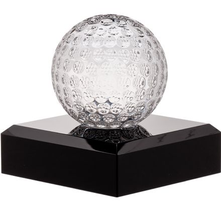 Our #Crystal #Golf #Trophy is Sure to Be A Hole in One! http://www.crownawards.com/StoreFront/GLSMGF.ALL.Crystal_Awards.Golf_Crystal.prod: Crystals Sports, Golf Crystals, Golf Ball, Minis Crystals, Crystals Golf, Golf Trophy