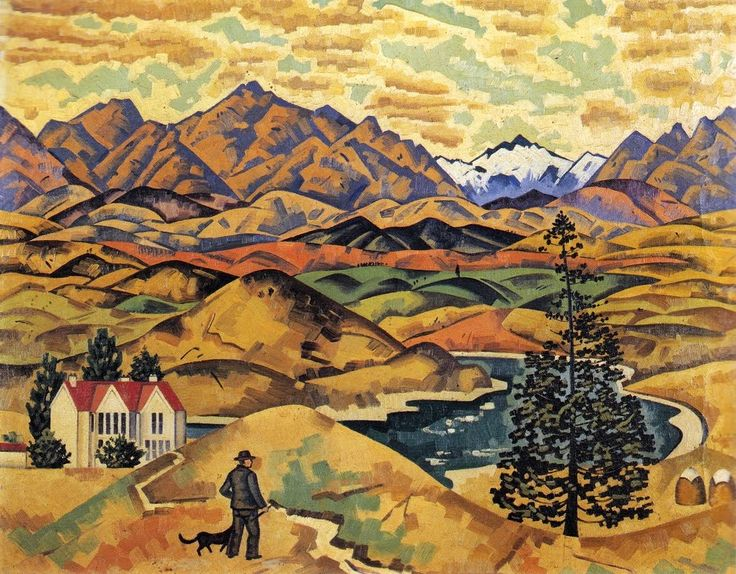 I'm not at all familiar with New Zealand artists...and the whole Beach with Pohutukawa motif leaves me cold...but I do like Rita Angus.  transpress nz: Central Otago is nice this time of year