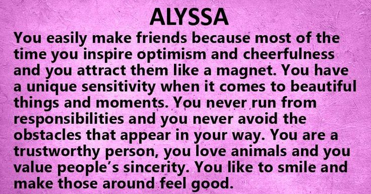 Things Names: 56 Best Images About My Name (Alyssa) On Pinterest