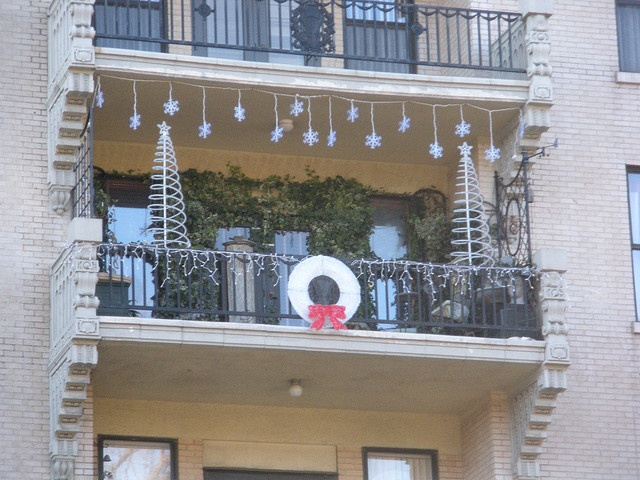 9 best christmas balcony images on pinterest balcony for Christmas balcony decorating ideas