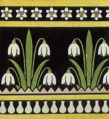 Ceramic Tile of Pugin http://www.voysey.gotik-romanik.de/Pugin Thumbnails/Ceramic Tile of Pugin, photo 5 on thetextileblog.html