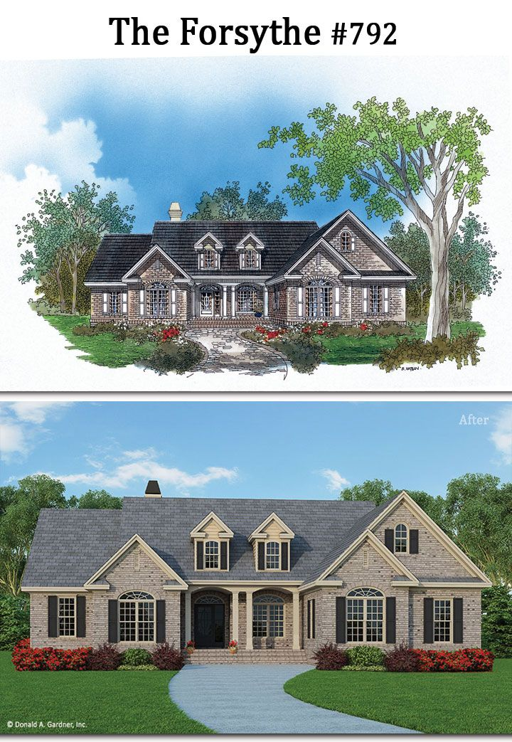 A new look for The Forsythe home plan 792! #WeDesignDreams