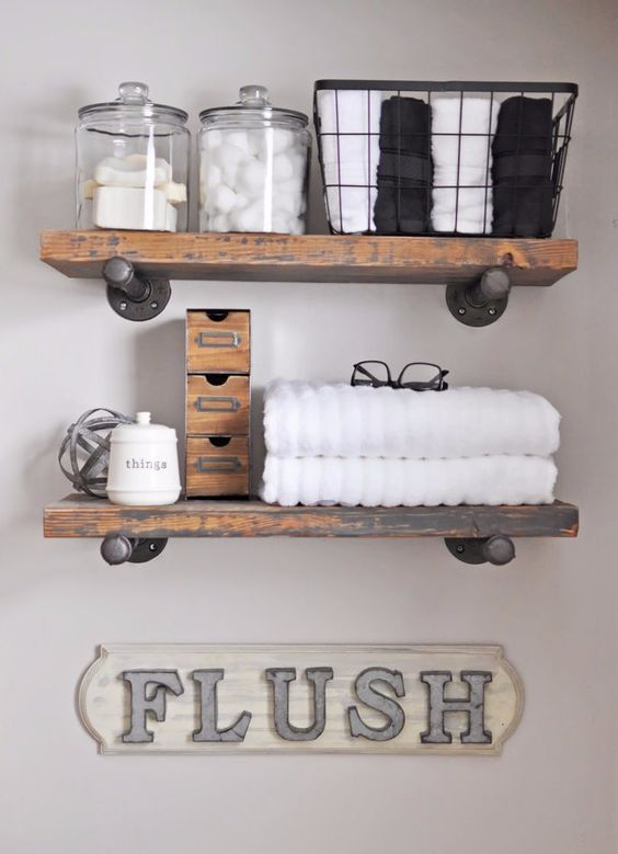 Create this adorable DIY Industrial Farmhouse Bathroom Sign with this easy to follow tutorial! It's the perfect little reminder for men and children! * Click image for more details. #homedecorapartment