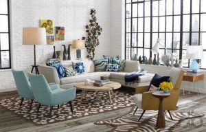 retro tarzı oturma odası dekorasyonu