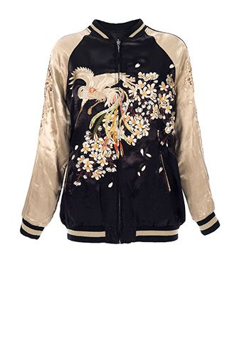 Silk Bomber Jacket <3 oversized!                                                                                                                                                                                 More