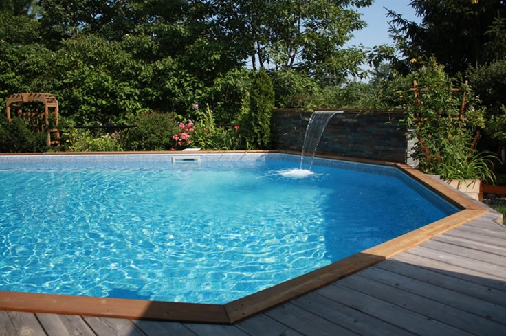 Onground Pool With Waterfall Dream Pools Pool