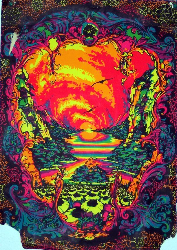 Posters From The 70s In 2020 Psychedelic Art Black