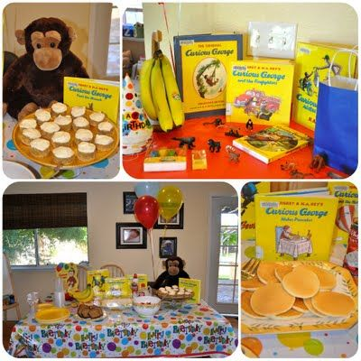 Red table cloth, yellow bananas, George, 4 balloons and a cake inst ant family bday party------Creative Juice: curious george birthday party: Bananas Birthday, Curious George Birthday, Curious George Parties, Birthday Theme, Birthday Parties, 1St Birthday, Parties Ideas, 2Nd Birthday, Birthday Ideas