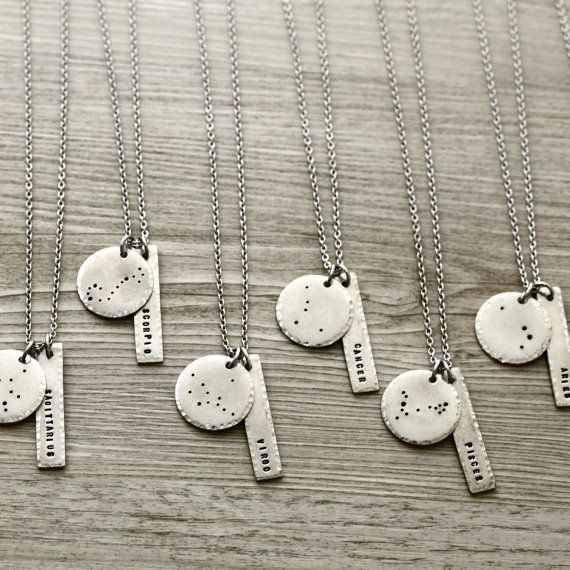 Constellation Necklace Constellation Jewelry por ClairAshley