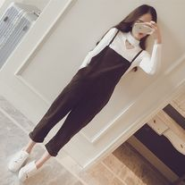 Corduroy slim strap overalls  http://dejavucat.storenvy.com/products/18412927-corduroy-winter-slim-straps-overall  #corduroy #pants #overall #khaki #black #khaki #black #set #cute #koreanfashion #korean #kpop #shop