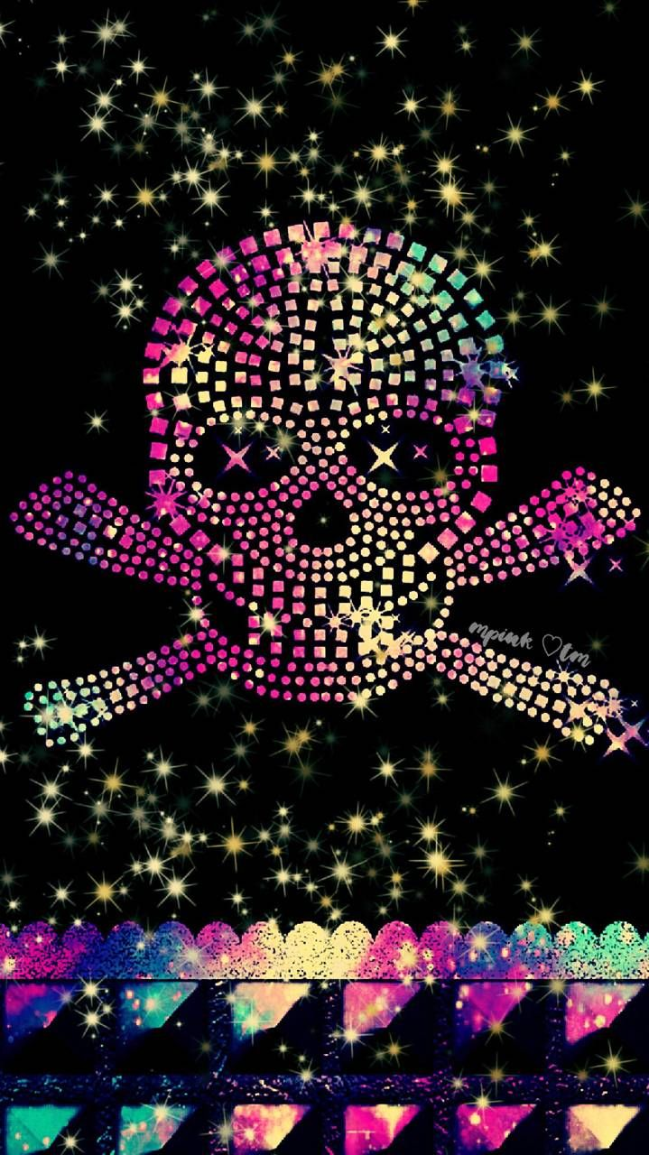 Bling Skull Galaxy Wallpaper Androidwallpaper Iphonewallpaper