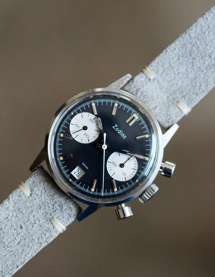 panda watches | Zodiac Reverse-Panda Chronograph - Menta Watches