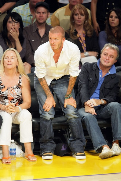 David Beckham Photo - Celebrities At NBA Finals Game 4: LA Lakers Vs. Boston Celtics