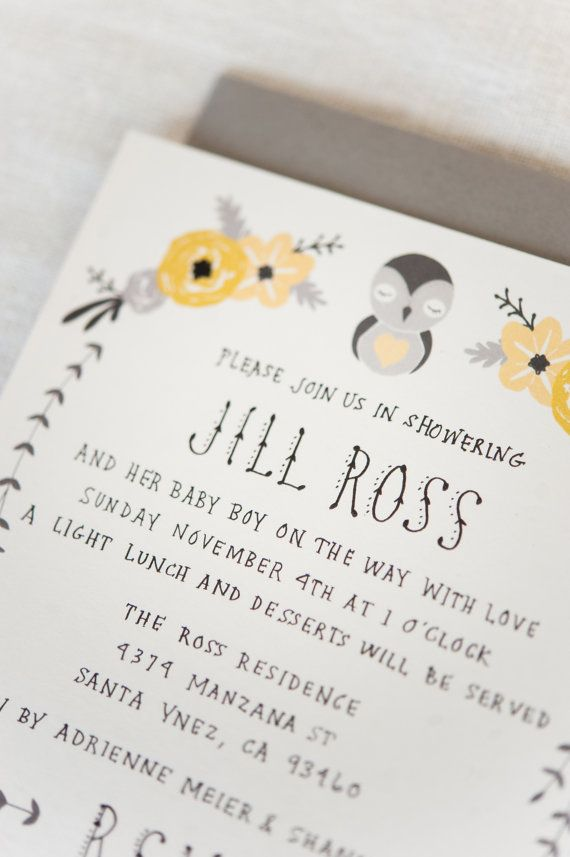 Baby Shower Invitation & Registry Card Baby by KelliMurrayArt