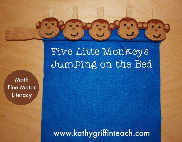 five little monkeys sitting in a tree worksheets