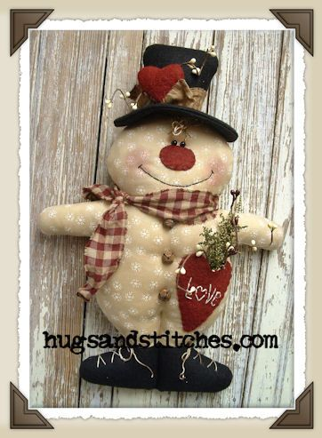 Country Crafts And Primitive Country Decor Snowmen