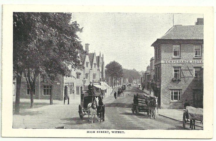Oxon postcard Witney High Street | eBay