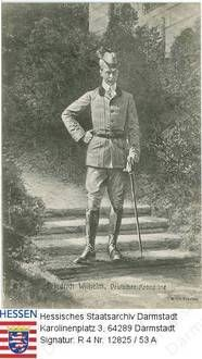 Perfect Wilhelm Kronprinz v Preu en Portr t in Jagdkleidung in Garden