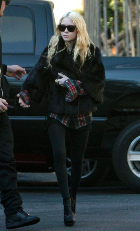 Beautiful grunge street style for Mary Kate Olsen