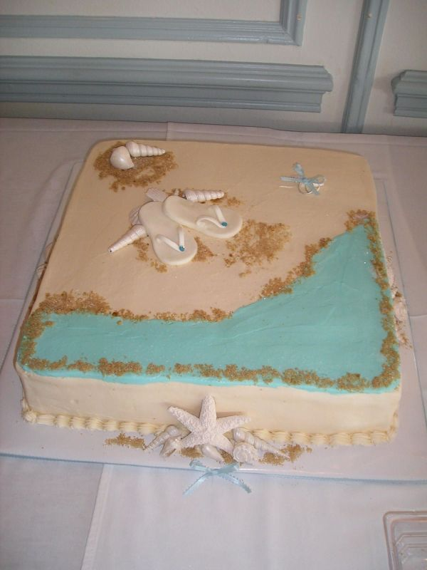 beach cake lets eat cake and cupcakes too in 2018 pinterest bridal shower cakes bridal shower and shower cakes