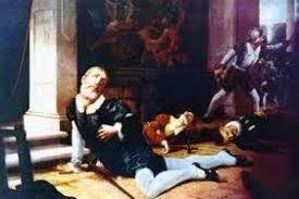 """260 – (1541 – 26 de Junio) Luego los Almagristas salieron a la Plaza de Armas para mostrar sus armas con sangre y decir cada uno """"Yo maté al Marqués"""" los historiadores han identificado al parecer al autor de la estocada final, sería Juan de Rada."""