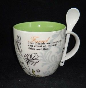 Friends love mug w/spoon