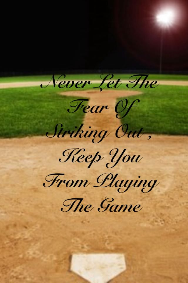 Omg I love this quote!! ~softball stuff~