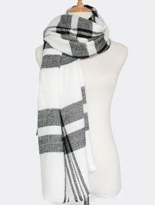 Stripe Printed Tassel Hooded Pashmina Poncho CAMEL: Scarves | ZAFUL