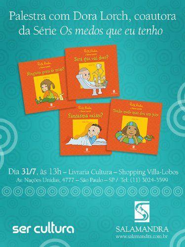 """Nesta tarde, a Livraria Cultura receberá a psicóloga e escritora Dora Lorch para uma palestra, voltada aos pais, sobre a necessidade do diálogo com as crianças na primeira infância. Neste encontro, Dora apresentará a importância das técnicas de contação de histórias e cantos no processo de educação e aprendizado da criança. Sobre a palestrante: Dora...<br /><a class=""""more-link"""" href=""""https://catracalivre.com.br/geral/agenda/barato/por-que-conversar-cantar-e-contar-historias/"""">Continue lendo…"""