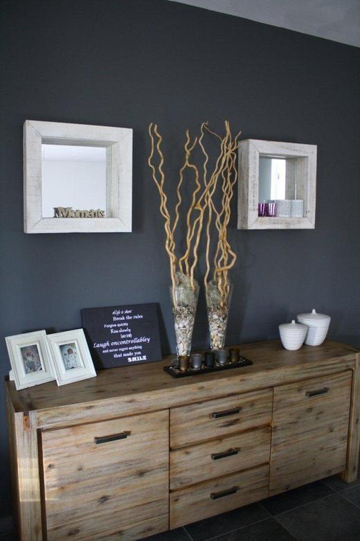 Mooie styling op dressoir decoratie pinterest grey walls grey and heels - Muur decoratie ontwerp voor woonkamer ...