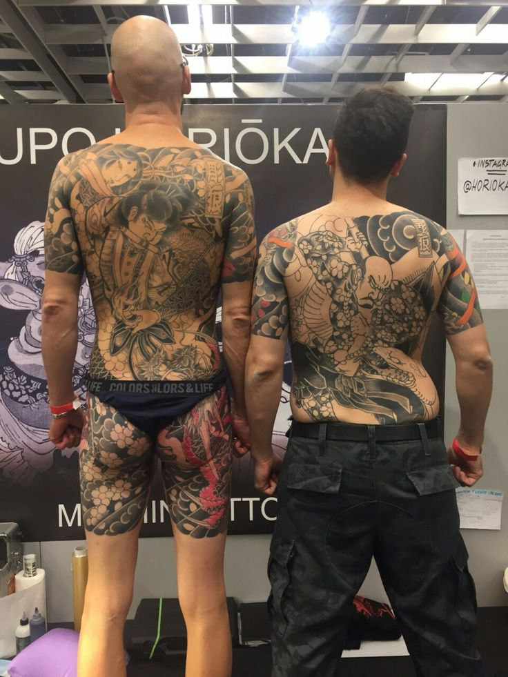 Session 7 at Florence tattoo convention 2015 : Done!!! Artist : Lupo.Horiokami - Mushin studio Vicenza. Additional pic : Me (right) and Antonio (left) for a fast photoshoot at Horiokami's stand....
