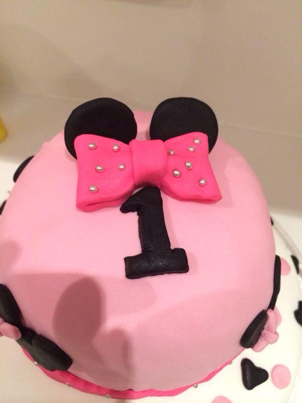 My baby's first birthday cake...sugarpaste...