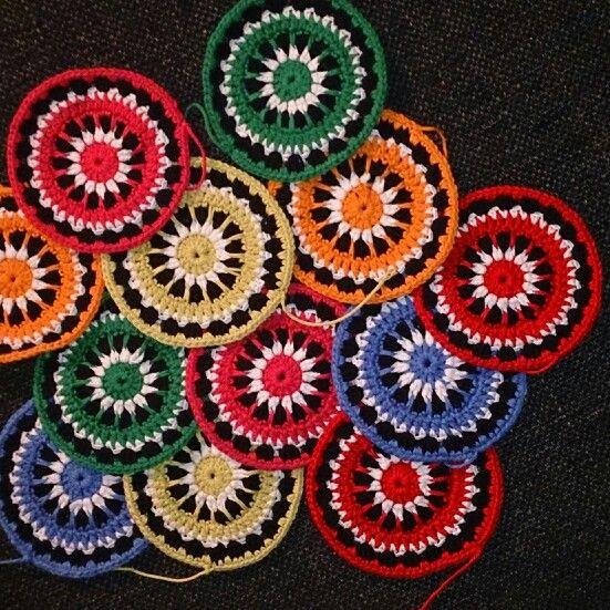 """Mandala coats, this patterns i found on a blogg named """"virknålen och majskroken"""""""