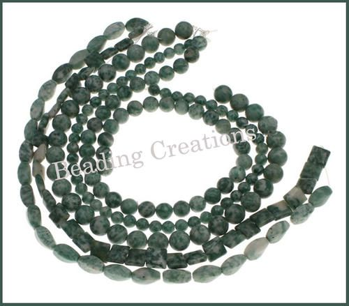 ***CLEARANCE*** GEMSTONE BEADS - NATURAL - GREEN SPOT STONE - 8-12mm - 5 STRAND LOT: AVAILABLE AT:http://www.bidorbuy.co.za/item/232382592/_CLEARANCE_GEMSTONE_BEADS_NATURAL_GREEN_SPOT_STONE_8_12mm_5_STRAND_LOT.html