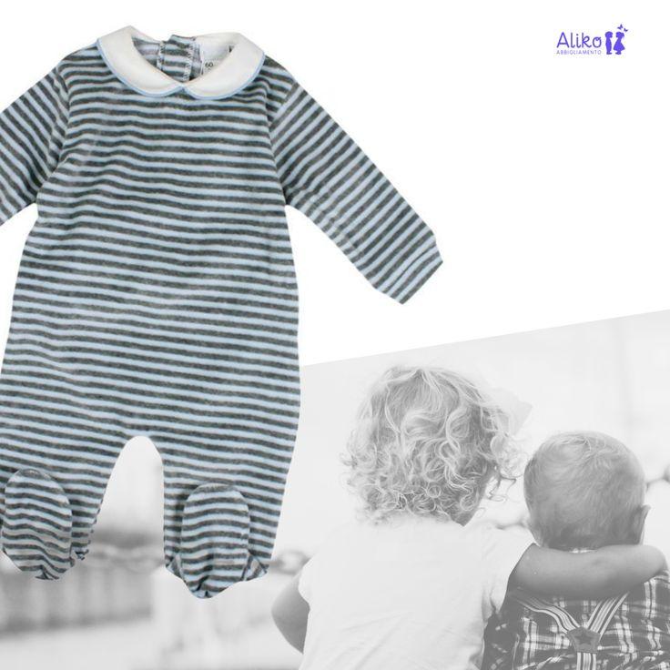 ✳ Il confort della ciniglia .... #nuovacollezione 🆒 #autunnoinverno2016  di #AlikoAbbigliamento  http://www.alikoabbigliamento.it/tutine-neonato