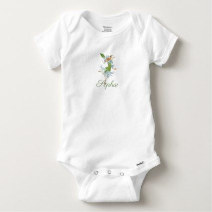 Vintage/Victorian Blue Flower Fairy Personnalised Baby Onesie - newborn baby gift idea diy cyo personalize family