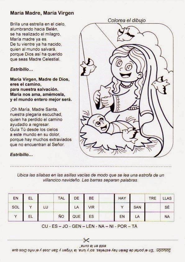 El Rincón de las Melli: Canción: María Madre, María Virgen ...