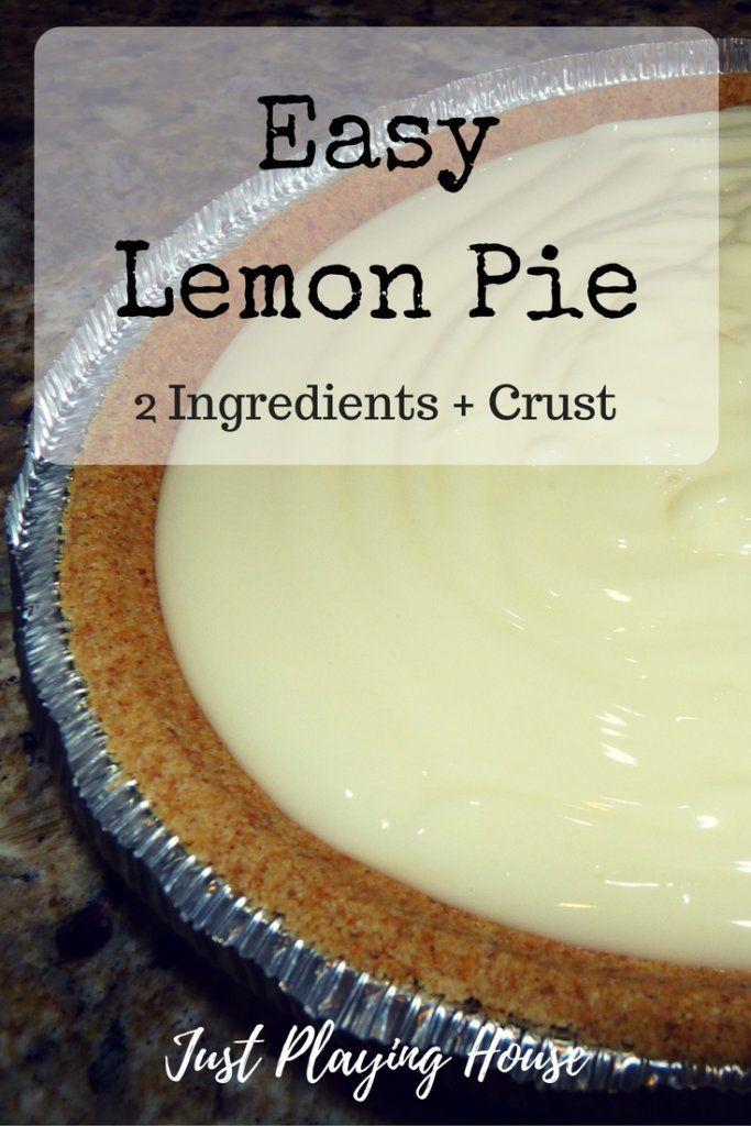 Easy Lemon Pie - Ice Box Lemon Pie - Dessert