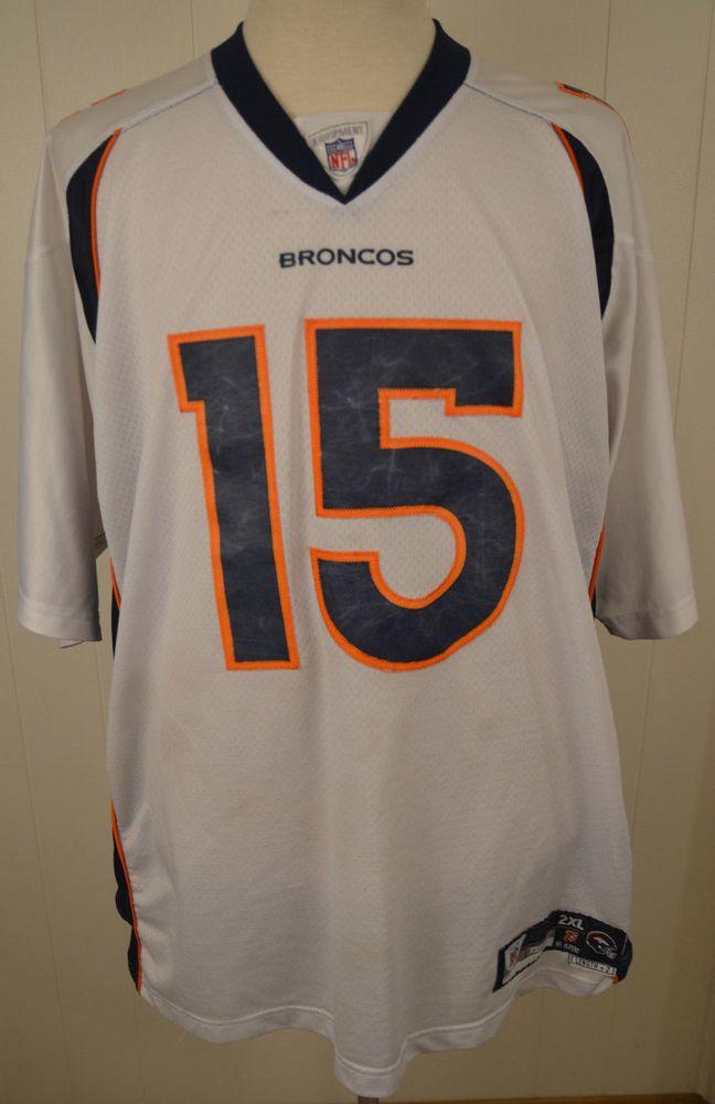 3ebca6257 Details about Authentic Reebok Denver Broncos Jersey  15 Brandon Marshall  NFL Jersey 2XL White