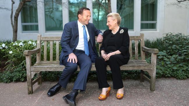 Tony Abbott with Bronwyn Bishop