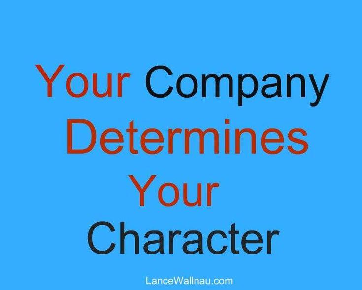 WATCH word on the company you keep | Lance Wallnau